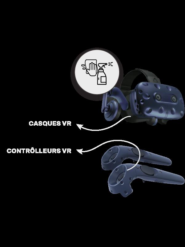 Nettoyer - désinfecter  le VR Maze