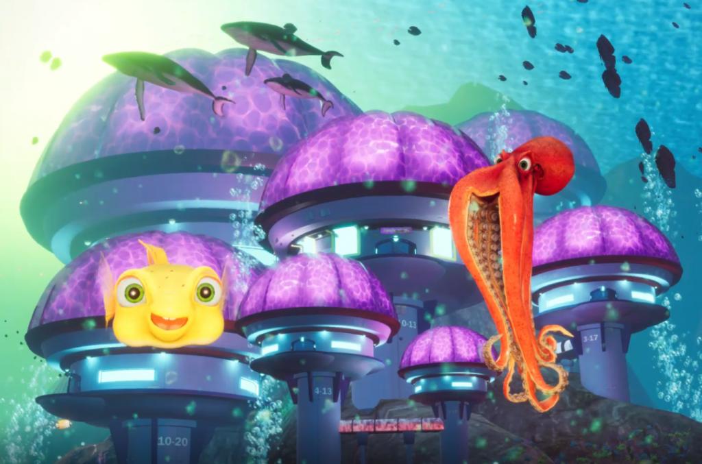 Customized film aquarium characters